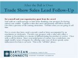 Trade Show Follow Up Email Template Trade Show Sales Follow Up Bartizan Lead Retrieval