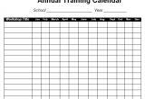 Training Calendars Templates 12 Sample Training Calendar Templates to Download Sample