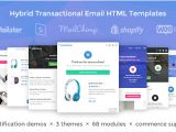 Transactional Emails Templates Lil Commerce Hybrid Transactional Email HTML Templates