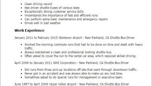 Transit Bus Driver Resume Samples Bus Driver Resume Sample Best Professional Resumes
