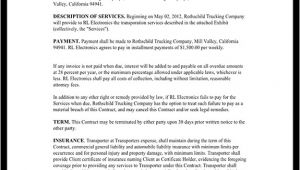 Transportation Contract Template Transportation Contract Agreement form with Sample