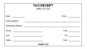 Transportation Receipt Template 18 Taxi Receipt Templates Pdf Word Sample Templates