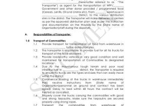 Transportation Service Contract Template Sample Transportation Contract forms 8 Free Documents