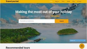 Travel Portal Templates 25 Free and Premium HTML Travel Website Templates Webprecis