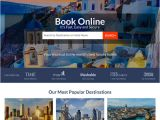Travel Portal Templates Landing Page Design Template Example for Best Practice