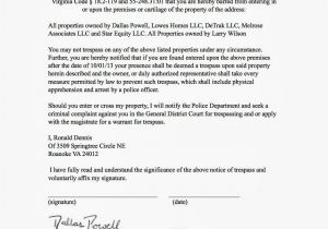 Trespass Notice Template Real Estate Investors Of Virginia Ronald Dennis Notice