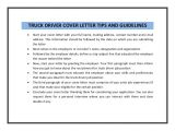 Truck Driver Cover Letter No Experience Truck Driver Cover Letter Sample Pdf