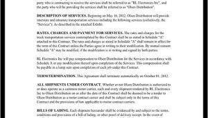 Trucking Contracts Templates Trucking Contract Template Independent Contractor