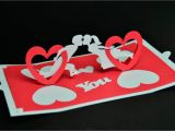 Twisting Hearts Pop Up Card Template Hugs and Keepsakes Create A Valentine 39 S Day Pop Up Card