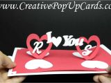 Twisting Hearts Pop Up Card Template Valentines Day Pop Up Card Twisting Hearts Youtube