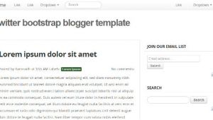 Twitter Bootstrap Email Templates Bootstrap Blogger Templates