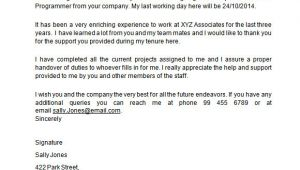 Two Week Notice Email Template Sample 2 Weeks Notice Template 6 Free Documents