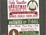 Ugly Sweater Party Flyer Template Ugly Christmas Sweater Party Flyer Invitation Templates
