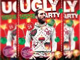 Ugly Sweater Party Flyer Template Ugly Christmas Sweaters Party Premium Flyer Template