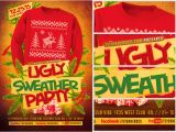 Ugly Sweater Party Flyer Template Ugly Sweater Flyer Template 2 Flyerheroes