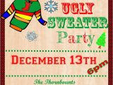 Ugly Sweater Party Flyer Template Ugly Sweater Invitation Template Free Ugly Sweater Party