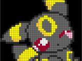 Umbreon Pixel Art Template Pokemon Adorable Umbreon Perler Bead Pattern Bead