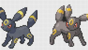 Umbreon Pixel Art Template Umbreon by Hama Girl On Deviantart