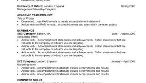 Undergraduate Resume Sample Undergraduate Sample Resume