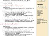 Underground Mining Engineer Resume Sample Senior Engineering Technician Resume Samples Qwikresume