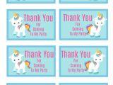 Unicorn Thank You Card Printable Jennifer Mcduell Expressgirl00 On Pinterest