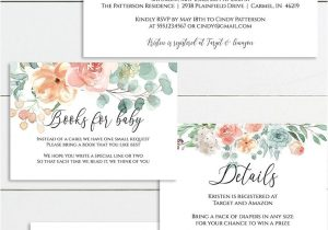 Unicorn Thank You Card Template Free Floral Baby Shower Invitation Editable Template Gold and