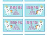 Unicorn Thank You Card Template Free Jennifer Mcduell Expressgirl00 On Pinterest