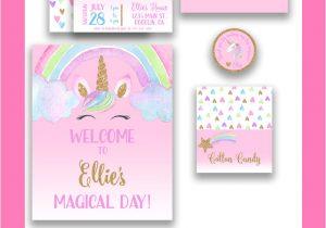 Unicorn Thank You Card Template Free Unicorn Invitation Set Unicorn Party Unicorns Rainbows