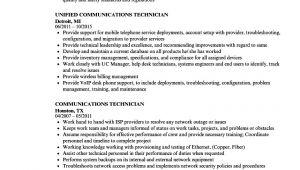 Unified Communications Engineer Resume Communications Technician Resume Samples Velvet Jobs