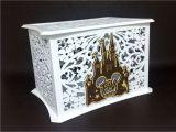 Unique Card Box Ideas Wedding Disney theme Wedding Card Box Memory Box Disney Castle