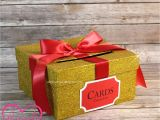 Unique Card Boxes for Graduation Card Box Glitter Yellow Gold Red Gift Money Box for Any