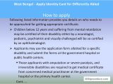 Unique Disability Id Card India West Bengal Apply Identity Card for Differently Abled