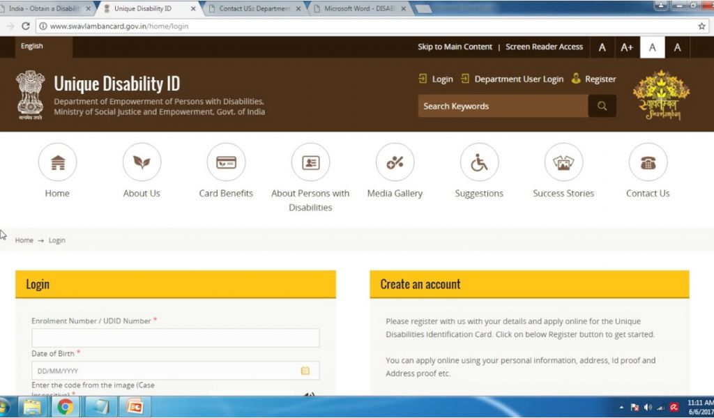unique disability id card uses india apply for disability