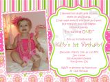Unique First Birthday Invitation Card Quotes for Baby Girl First Birthday Quotesgram