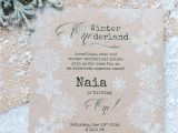 Unique First Birthday Invitation Card Winter Wonderland 1st Birthday Party with Images
