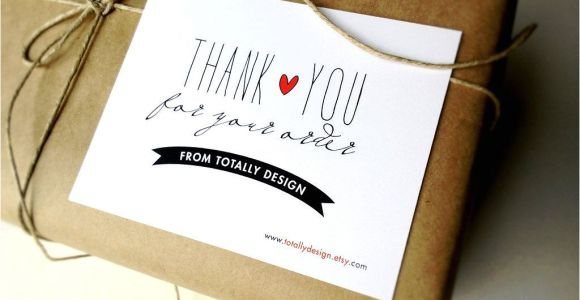 Unique Thank You Card Ideas Great Idea Include Thank You Cards when Package Your Artsy