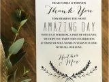 Unique Thank You Card Ideas Wedding Personalized Wedding Reception Thank You Cards for Your