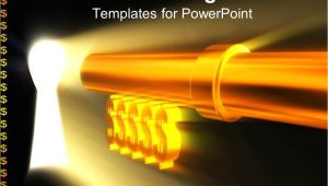 Unlock Powerpoint Template Powerpoint Template Unlock Keylock with Golden Dollar