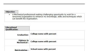 Updated Resume format for Fresher 10 Fresher Resume Templates Download Pdf