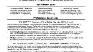 Us It Recruiter Sample Resume Recruiter Resume Sample Monster Com