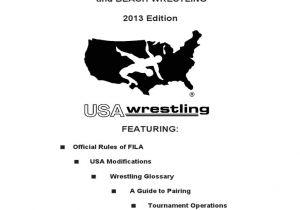 Usa Wrestling Coaches Card Background Check 2013 Usa Wrestling Rule Guide Book Professional