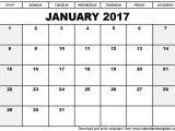 Usable Calendar Template Free Calendar Template 2017 Cyberuse
