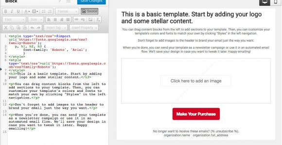 Use Custom Font In Email Template Custom Fonts In Email Templates Klaviyo Help Center