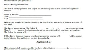 Used Car Contract Template Sample Used Car Sale Contract 7 Examples In Word Pdf