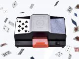 Used Shuffle Tech Professional Card Shuffler Win Full Card Shufflers Battery Operated Professional Card Shuffler 1 2 Decks High Speed Automatic Plastic Shuffling Machine Playing Card Games