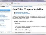 Using Templates In Java Eclipse Code Templates