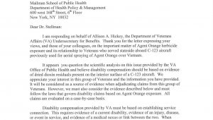 Va Nexus Letter Template Agent orange C 123k Aircrew Maintainers Va now