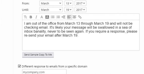 Vacation Email Message Template How to Create A Vacation Away Message for Almost Any