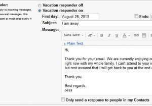 Vacation Email Message Template Vacation Message Template Pertamini Co