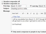 Vacation Response Email Template How to Create A Vacation Away Message for Almost Any